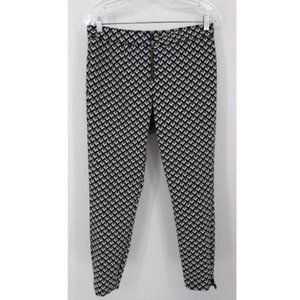 Hue L Pants Ankle Crop Leggings Gray Black White